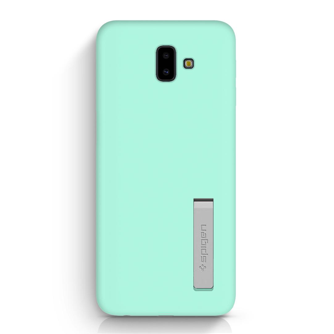 venta reino unido último diseño venta de tienda outlet Carcasa Silicona Soporte Galaxy J6 Plus Verde Menta
