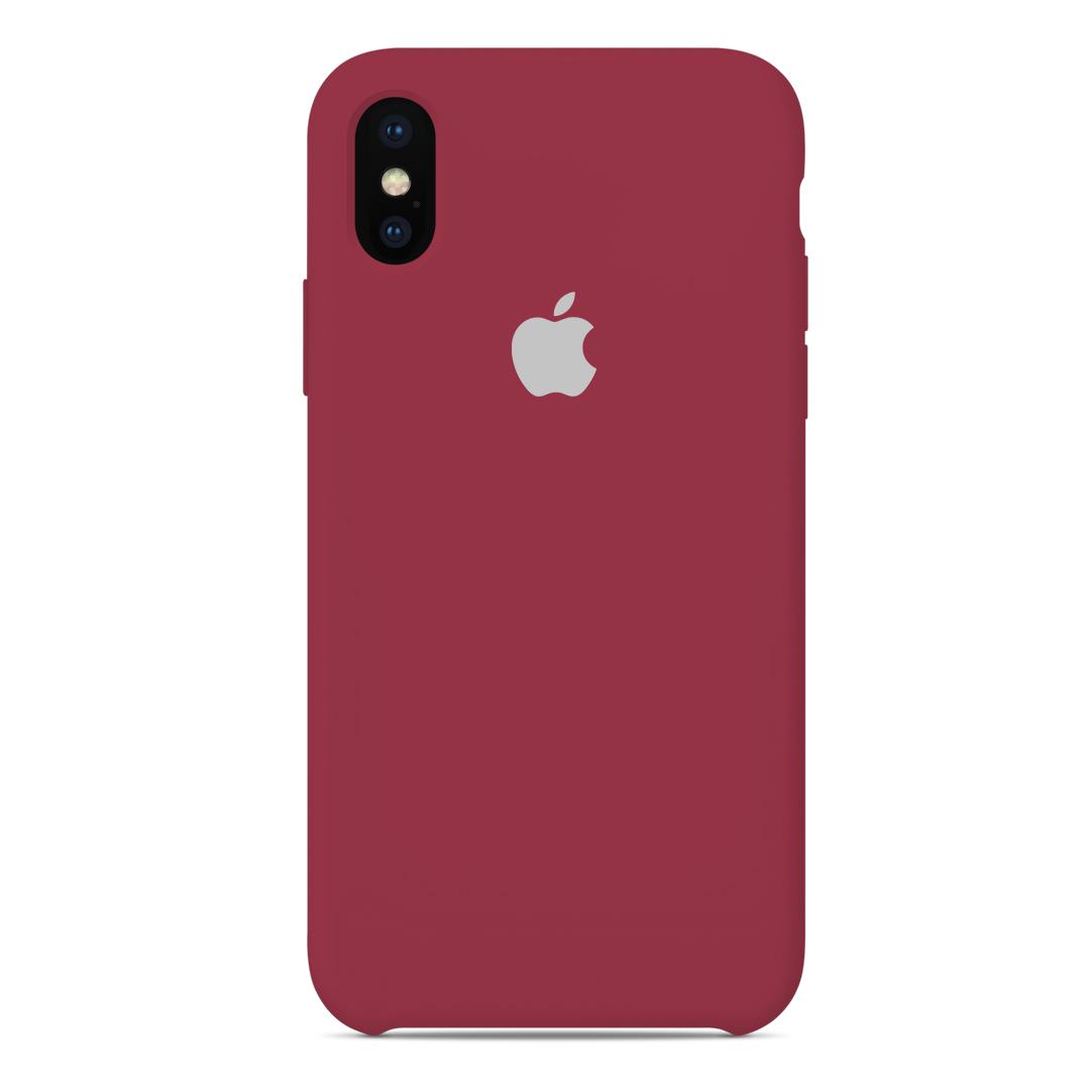 b078abc93c0 Carcasa Silicona Logo Apple iPhone XS X 10 Guinda | Carcasas Chile
