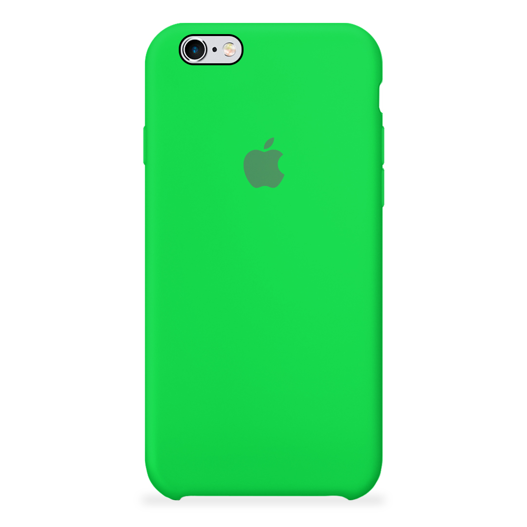 8cd495c7551 Carcasa Silicona Logo Apple iPhone 6 / 6S Verde Manzana | Carcasas Chile
