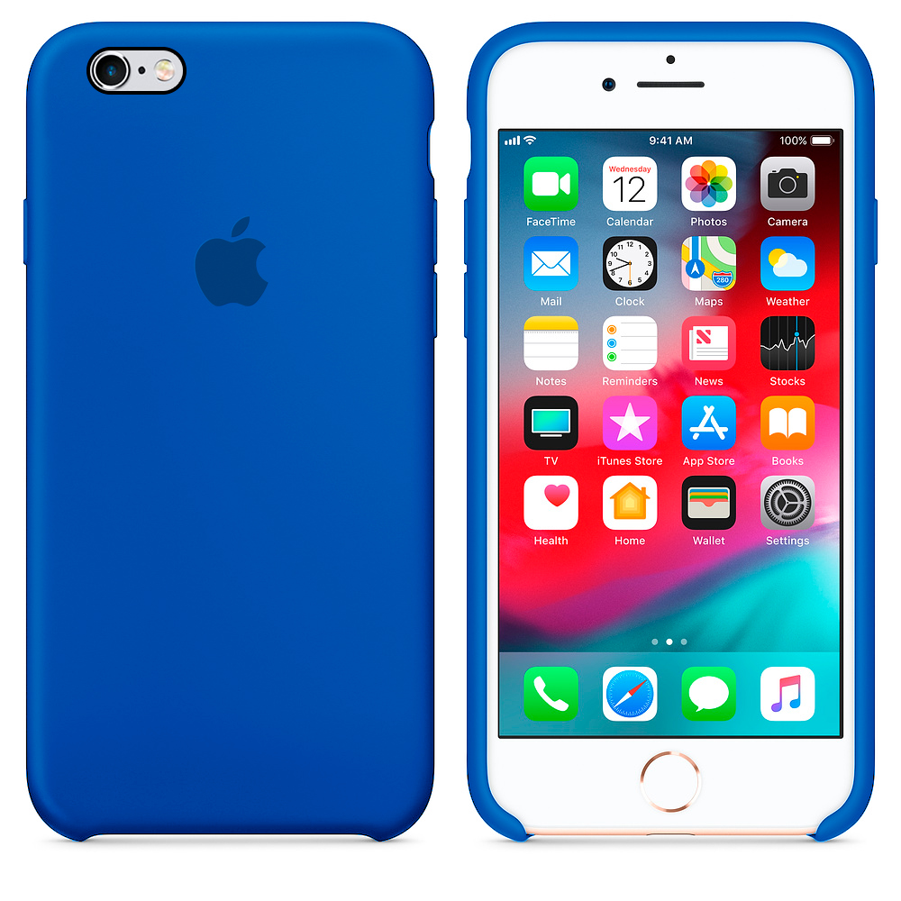 bd6abfc95bb Carcasa Silicona Logo Apple iPhone 6 / 6S Azul Indigo | Carcasas Chile