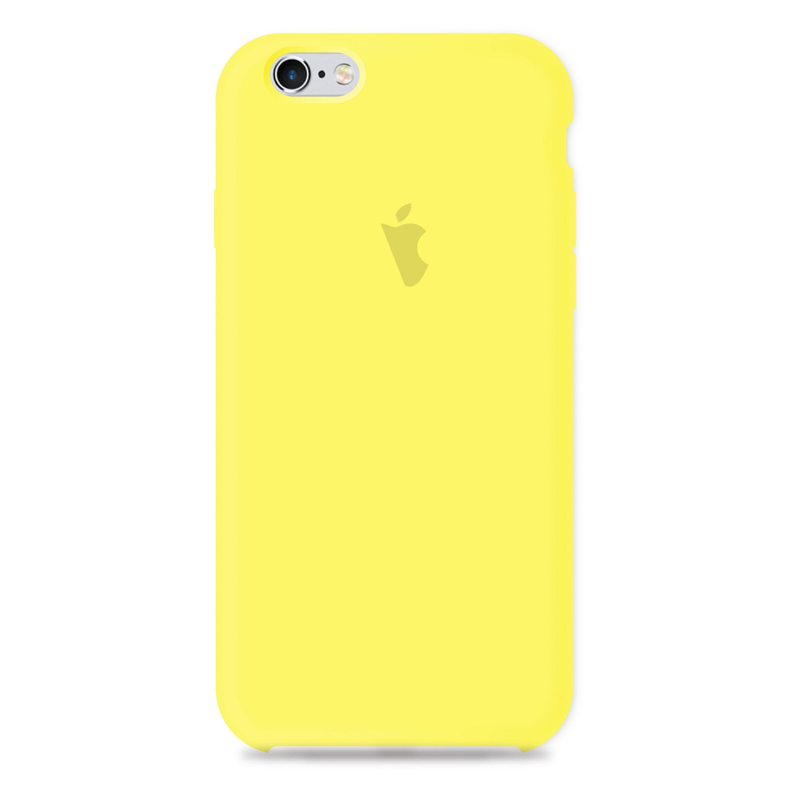 Carcasa Silicona Logo Iphone 6 6s Amarilla Carcasas Chile